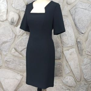 Shoshanna Black Poly Knit Career Dress